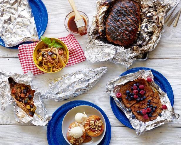Фото Здоровые блюда на гриле в конвертах из фольги