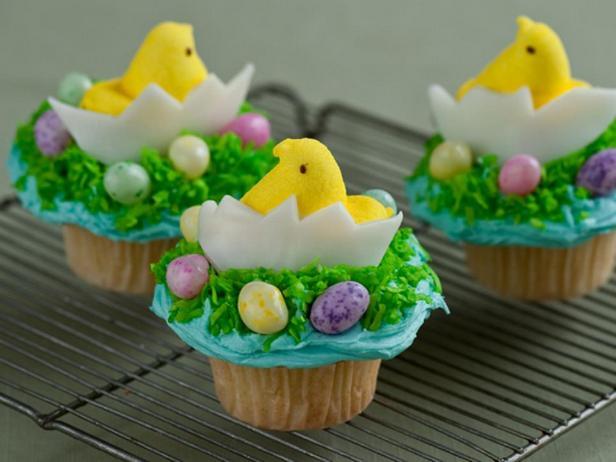 Капкейки «Цыпленок в яйце»