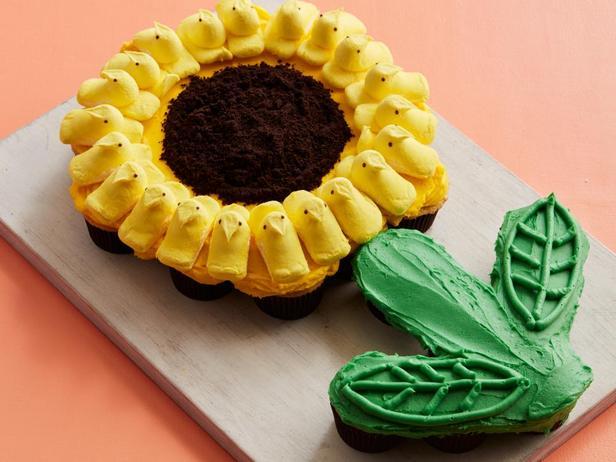 Торт из капкейков «Подсолнух»