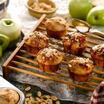 Яблочно-ванильные мини-маффины в яблочной глазури