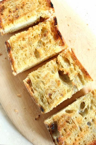 Фото Жареный хлеб по-итальянски на гриле