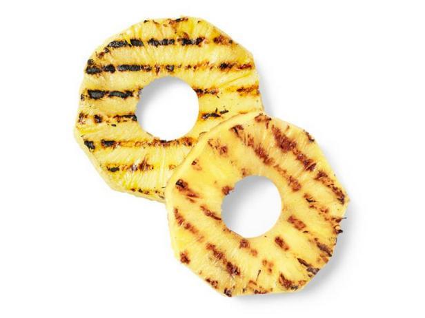 Фото Жареные на гриле ананасовые кольца