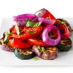 Рататуй из печеных овощей на гриле