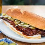 Богатырский сэндвич со свиными рёбрышками