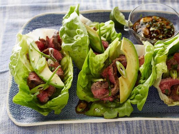Низкокалорийные такос (говядина в листьях салата)