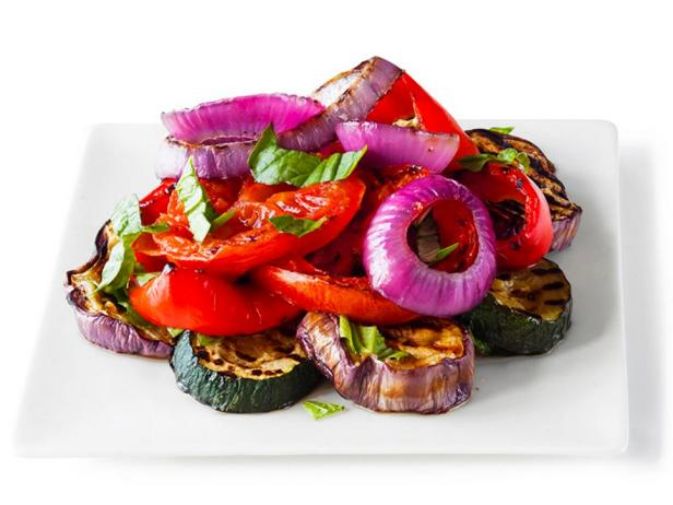 Рататуй из печенных овощей на гриле