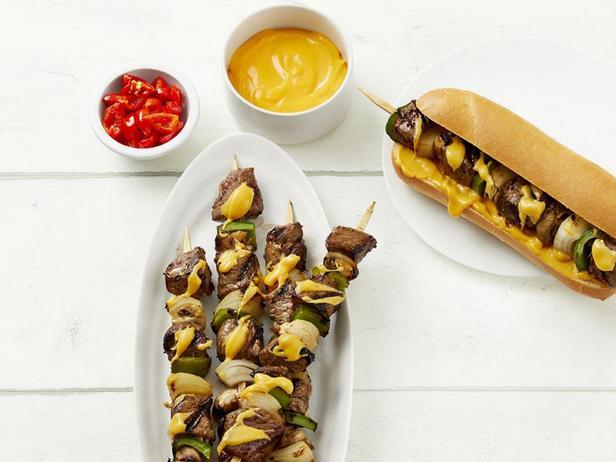 Фото Сэндвич с кебабом по-филадельфийски