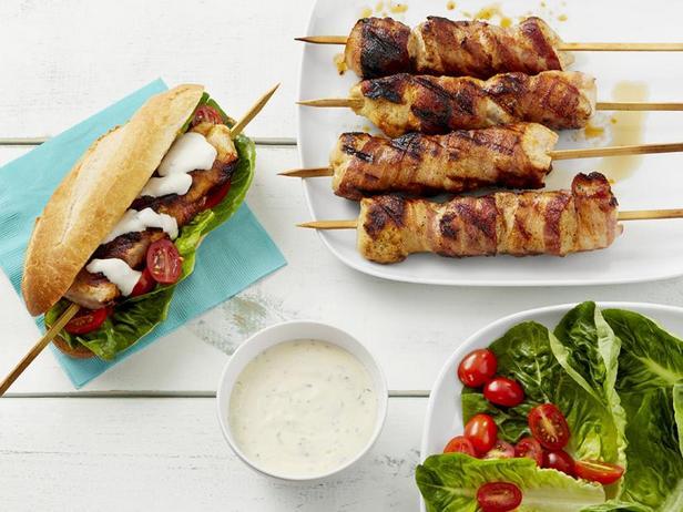 Фото Клубный сэндвич с шашлыком из индейки