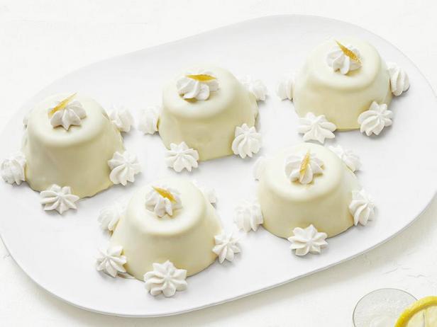 Фото Мини-тортики из лимонного бисквита