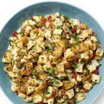 Картофельный салат с соленьями