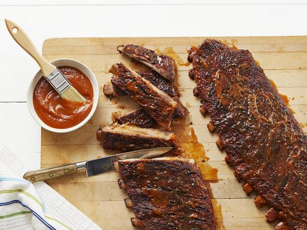 Фото Свиные рёбрышки в стиле Сент-Луис с соево-имбирным соусом барбекю