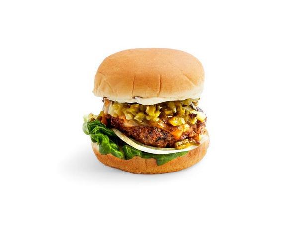 Фото Чизбургеры с зелёными перцами чили