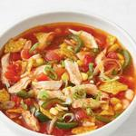 Суп с курицей и кукурузой в стиле текс-мекс