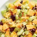 Острый салат из дыни по-карибски