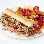 Сэндвичи со свининой барбекю и капустой коул слоу с соусом хойсин