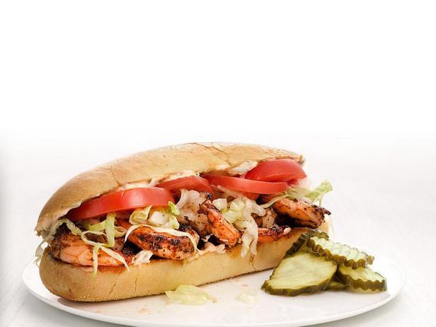 Фото Сэндвич По-бой с жареными креветками