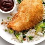 Курица кацу с имбирным рисом