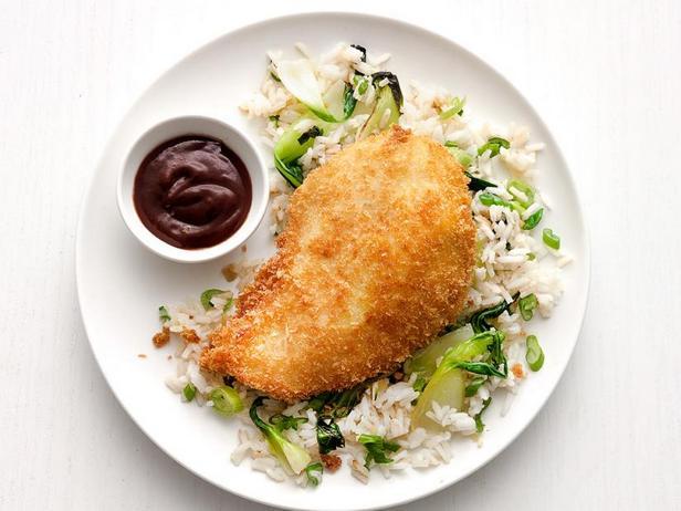 Фото Курица кацу с имбирным рисом