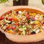 Салат с птитимом и овощами-гриль