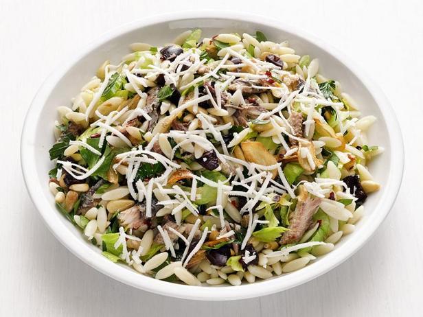 Фото Сицилийский салат с пастой орзо