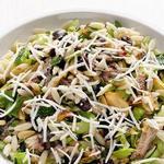 Сицилийский салат с пастой орзо