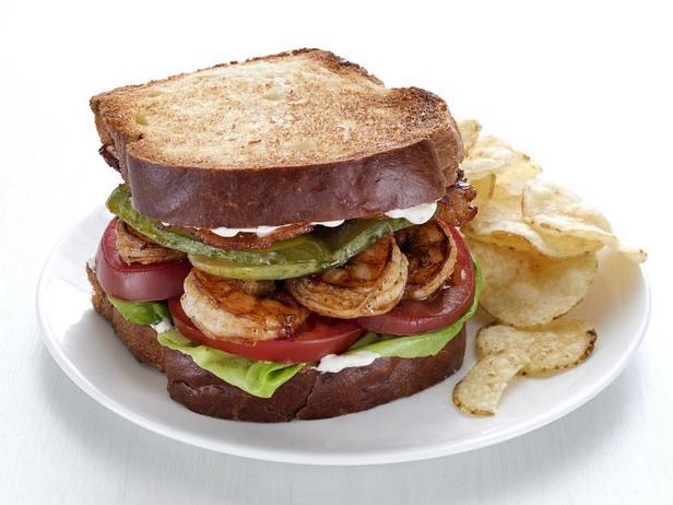 Фото БЛТ сэндвич с креветками