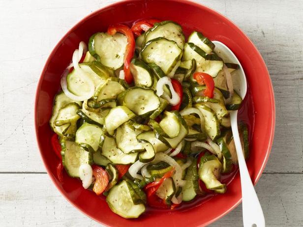 Фото Охлаждённый огуречный салат