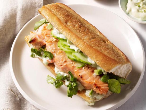 Фото Азиатские сэндвичи с лососем