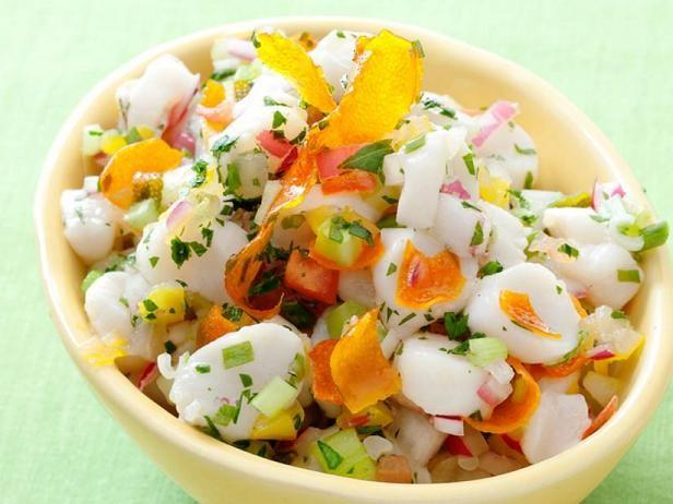 Фото Севиче из морских гребешков с цитрусовыми цукатами