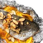 Форель «Амандин» с апельсинами на гриле