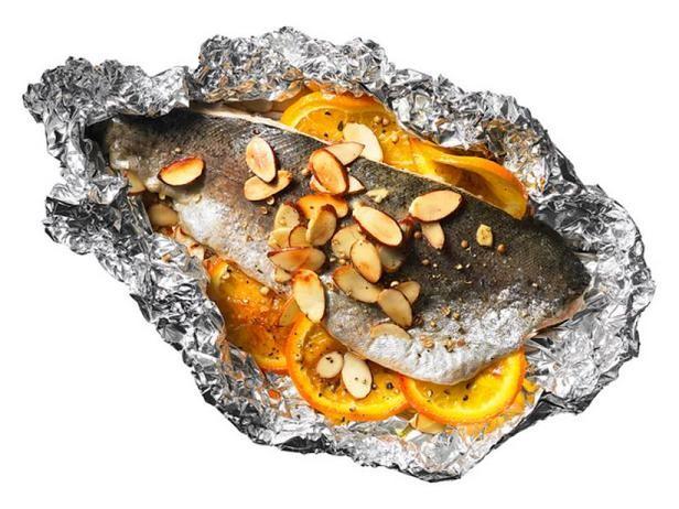 Фото Форель «Амандин» с апельсинами на гриле