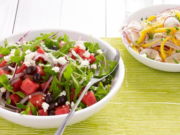 37. Салат с арбузом и фетой