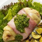 Подкопчёная курица в стиле «Кордон блю»