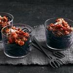 Спагетти болоньезе «Черви в стакане»