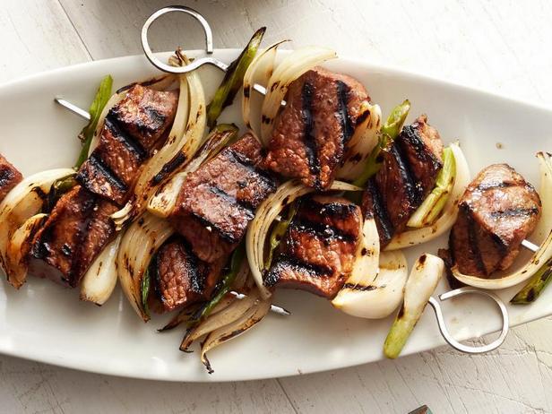 Фото Азиатский кебаб из сладко-острой говядины
