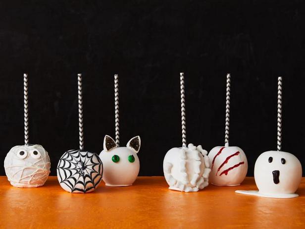 Фото Яблоки в глазури на Хэллоуин