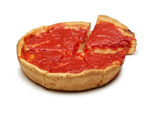 Фото Глубокая пицца по-чикагски