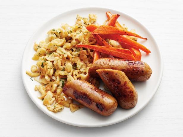 Фото Куриные колбаски со шпецле