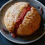 Мозг из пасты с фрикадельками