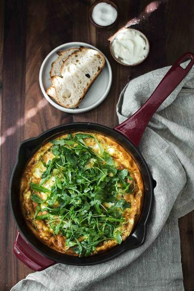 Фото Фриттата с печёными овощами