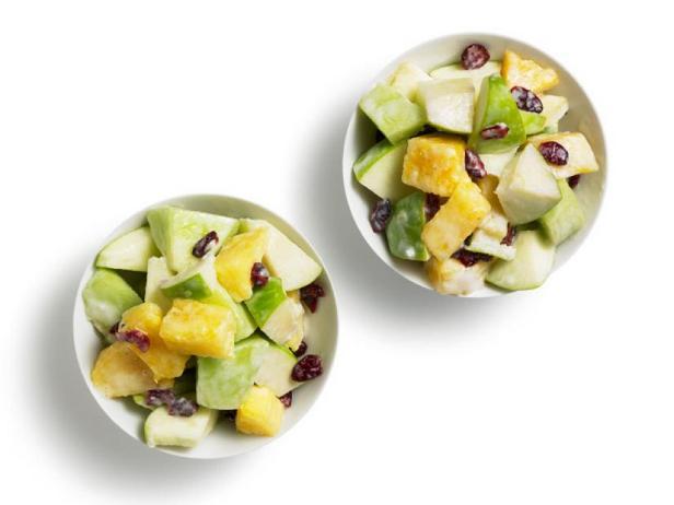 Фото Дынный салат в сливочной заправке