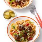 Спагетти с мясными шариками «Бургер»