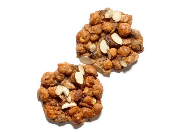 Фото Печенье с кукурузными шариками и миндалём