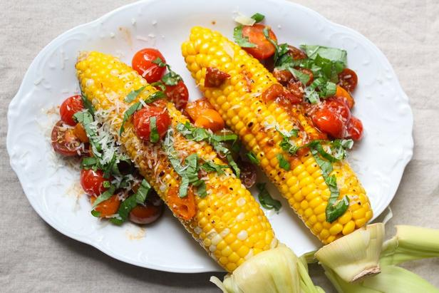 Томатно-чесночная кукуруза