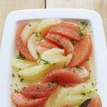 Салат из грейпфрутов в медово-мятной заправке