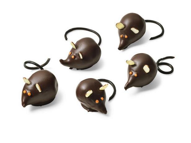 Фото Мышки из инжира в шоколаде