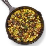 Жареная картошка с кукурузой