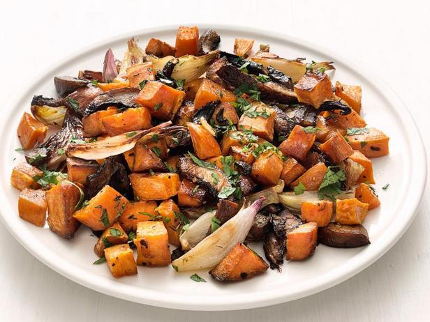Фото Печёные осенние овощи