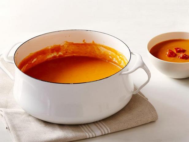 Фото Крем-суп из печёных томатов