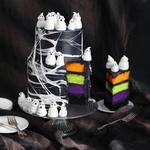 Торт с привидениями и паутиной из маршмэллоу